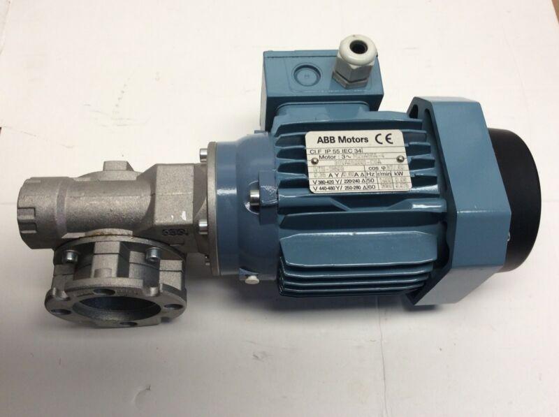 ABB Motor M2VA56A-4 36VA052001-CSA IVTN-19509 W/ Gear Reducer