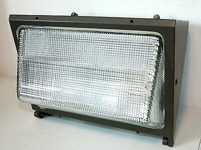 Nos Stonco 100 Watt Metal Halide Wall Prism Pack Cube Security Light Wbulb Lamp