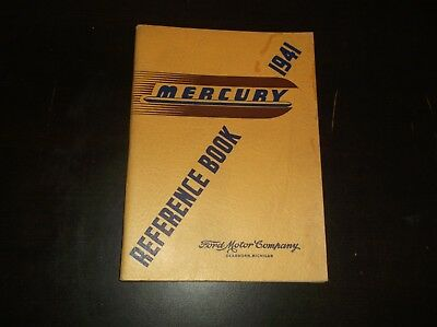 VINTAGE 1941 MERCURY REFERENCE BOOK FORD MOTOR COMPANY DEARBORN MICHIGAN