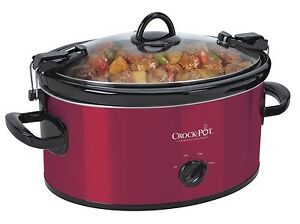 Crock-Pot SCCPVL600-R Cook & Carry Manual Slow Cooker, Red