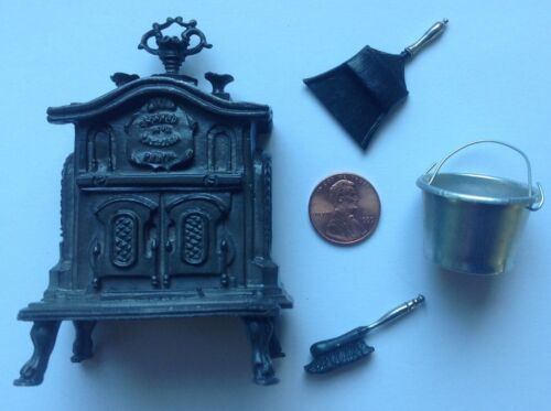 1:12 scale Dollhouse Miniature Victorian Parlor Stove, replica of an ONWARD #3,
