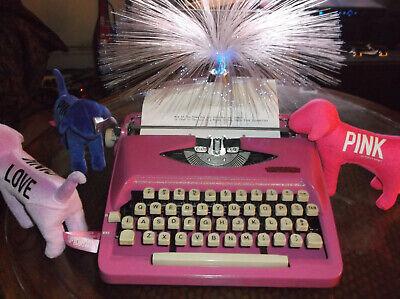 Antique 1960s Royal Cotten Candy Miami Pink Manual Portable Typewriter