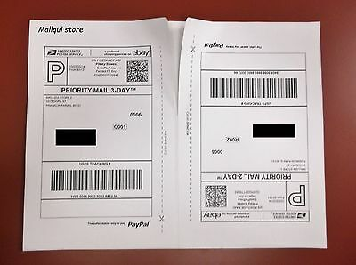 50 Shipping Labels  Paypal  Usps  Ups Strong Self Adhesive