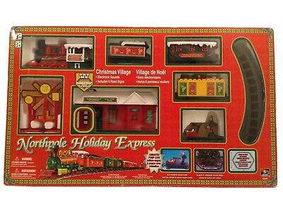 NORTH POLE HOLIDAY EXPRESS BATTERY OPERATED TRAIN SET TOY STATE