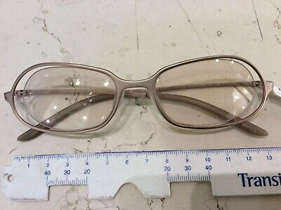 Prada Vpr 70B 52-18 Eyeglasses New Rimless Vintage Gold Colour Mat Made IN Italy