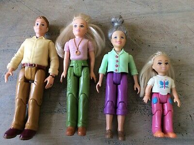 Fisher Price Loving Family Dollhouse Doll Lot Grandma Grandmother Mom Dad Girl
