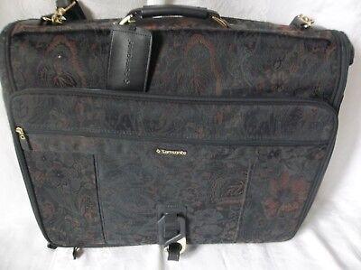 "SAMSONITE Garment Bag Black Floral Travel Hanging Business Luggage 42"" x 22"""