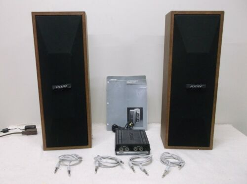 BOSE 402-W Professional Loudspeaker System - 2 Speakers W/ 402-E Active Equalize