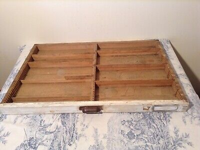 Vintage French Wooden Printers Letterpress Typeface Drawer - Print Tray (4230)