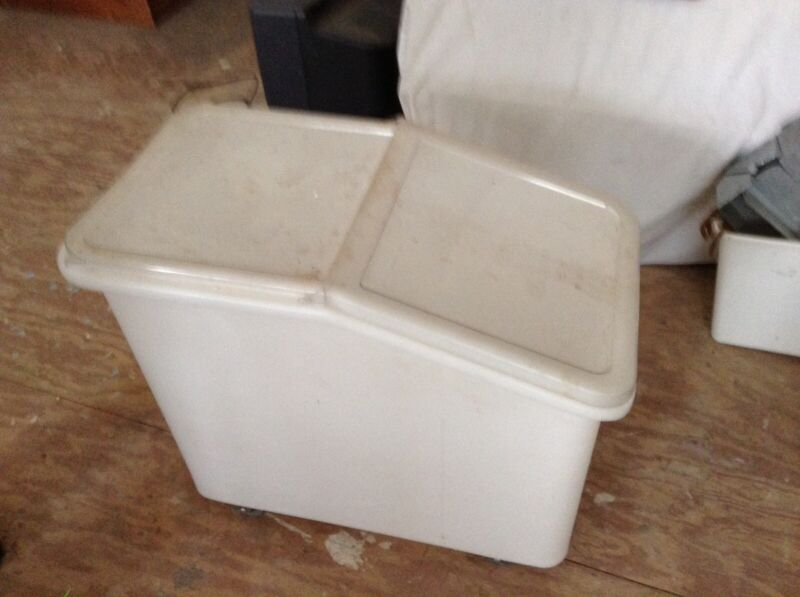 Large Dry Goods Bin on Rolling Casters