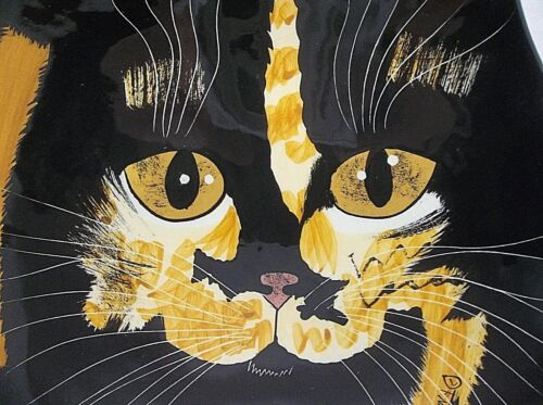 Vintage Cats By Nina CALICO CAT Plate LUCY
