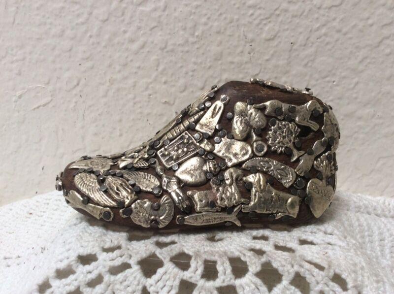 "Beautiful Vintage Wooden Child's Shoe Last  4 1/2"" X 2"" X 2"""