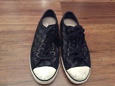 John Varvatos Leather Black Converse Size Uk 9