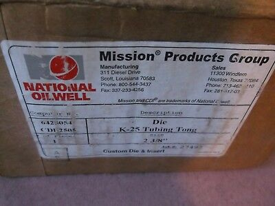 National Oilwell Varco Die K-25 Tubing Tong Pipe Size 2-38 12set