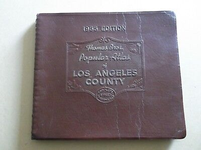 1955 Edition Los Angeles County Atlas,Complete Street Information
