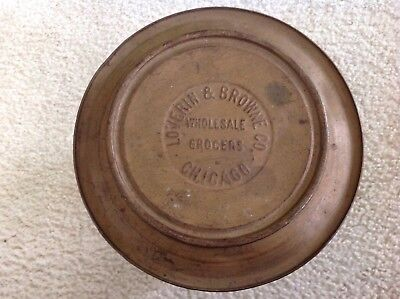 Loverin & Browne Co. Wholesale Grocers, Chicago Tin Bin, 1800's - Wholesale Tins