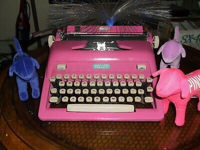 Antique 1960s Royal Miami Cotton Candy Bubble Gum Pink  Manual Typewriter