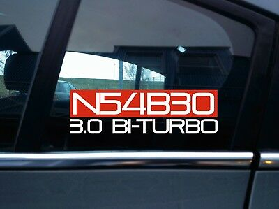 N54B30 3.0 BI-TURBO sticker for BMW F01 740i | e90 335i | e82 135i | e60 535i