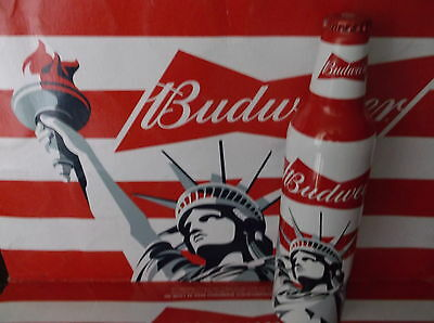 BUDWEISER 16 OZ  ALUMINUM BOTTLE EMPTY AND UNOPENED