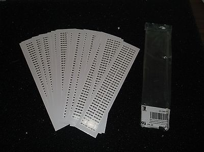 Lot Of 25 Power First Black On White Wire Marker Nylon 900 Labels C68j