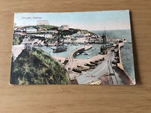 """Vintage Postcard ~ """" NEWQUAY"""" HARBOUR ~ Posted 1907"""