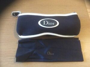NEW UNUSUAL CHRISTIAN DIOR NEOPRENE PROTECTIVE CASE FOR SUNGLASSES OR GLASSES
