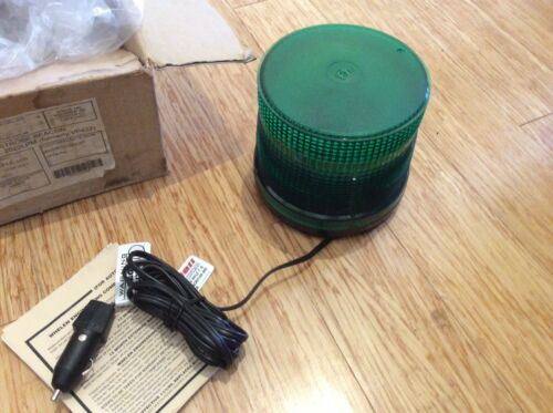 Whelen 2022LPM Low Type Magnetic Base Green Strobe Light wit