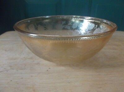 U.S. Glass Strawberry Pink Depression Glass Bowl