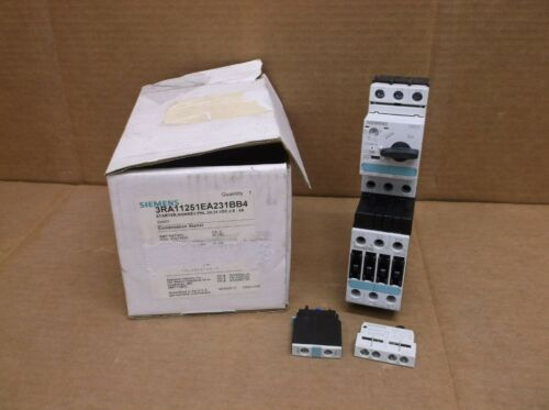 3RA11251EA231BB4 Siemens NEW In Box Combination Motor Starter Contactor
