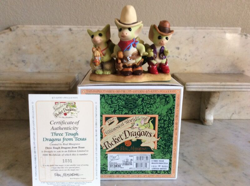 Pocket Dragons: Three Tough Dragons From Texas: Limited edition: mint condition