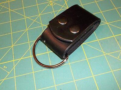 """Leather Belt Strap, Knife Sheath Dangler, 2"""" D ring fit 3"""", Pack Strap, Black"""
