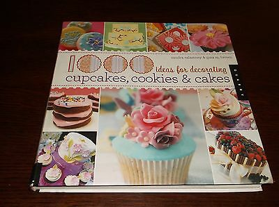 1000 Ideas For Decorating Cupcakes, Cookies & Cakes Softcover Book VGC Salamony](Cupcake Decorating Ideas)