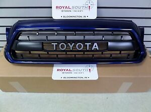 toyota tacoma trd pro matte black grille genuine oe ebay. Black Bedroom Furniture Sets. Home Design Ideas