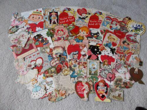 Vintage Lot Valentine ~Cards, Die Cuts, Ephemera. Scrapbooking, Paper Scraps