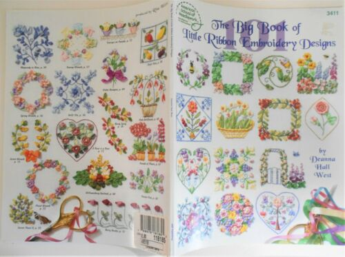 THE BIG BOOK OF LITTLE RIBBON EMBROIDERY DESIGNS #3411 Amer School Needlework