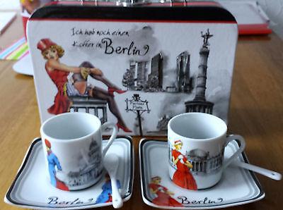 BERLIN KOFFER / Espressotassen 7teilig