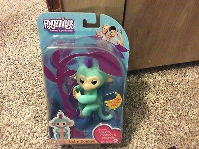 Wowwee Fingerlings Zoe Turquoise Interactive Baby Monkey