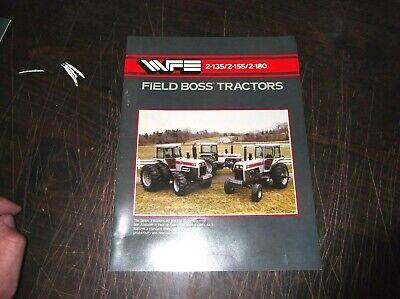 White Farm Equipment 2-135 2-155 2-180 Field Boss Tractor Sales Brochure