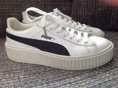 Puma Fenty By Rihanna Riri White Black Creeper Platform Trainers Uk 4