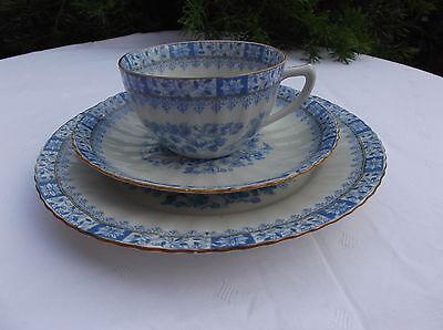 """Altes Kaffeegedeck Tee Gedeck Dekor """"China Blau"""" Tasse Unterteller Kuchenteller"""