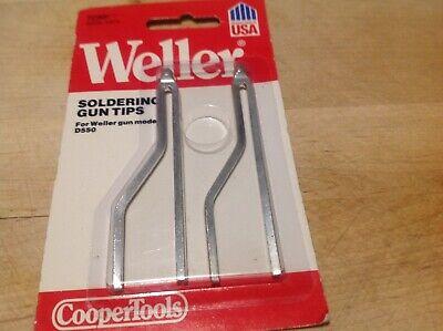 Weller 7250 Soldering Gun Tips 2 Carded Made In Usa