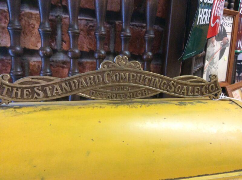 Antique circa 1911 The Standard Computing Scale Co Detroit Mich