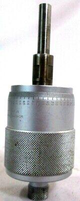 Scherr-tumico Large Metric Micrometer Head 0-25mm