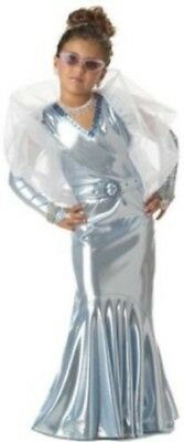 SILVER SCREEN DIVA MOVIE STAR STARLET HALLOWEEN COSPLAY COSTUME GIRLS MED 8-10](Movie Star Girls Costume)