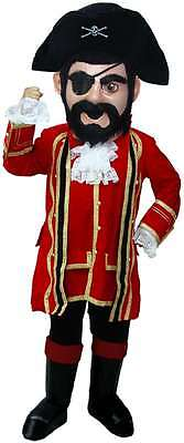 Professional Pirate Costumes (Captain Jack Pirate Professional Quality Lightweight Mascot)