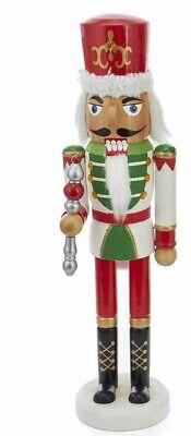 [Kurt Adler Nutcracker - Red & Green with Gold Hat Design Christmas Nutcracker </Title]
