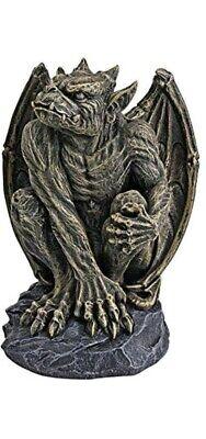 Design Toscano Silas the Sentry Gargoyle Gothic Statue, Medium, 18 cm set of 2