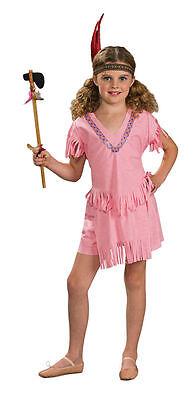 Pink Indian Girl Halloween Costume Childs Native American Pocahontas Medium Kids