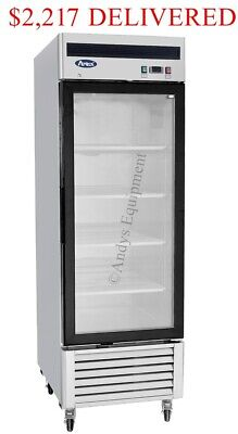 Atosa Single 1 One-glass Door Commercial Restaurant Upright Freezer On Casters