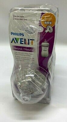 Philips Avent BPA Free Natural Fast Flow Nipples 6m+, 4-Pack NEW